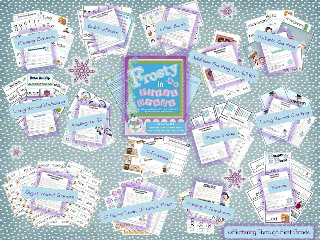 http://www.teacherspayteachers.com/Product/Winter-Frosty-in-First-Grade-Common-Core-Math-and-Literacy-for-the-Season-429388