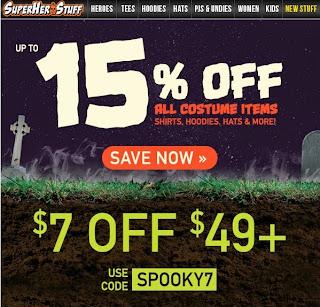 Ad for SuperHeroStuff Spooky Sale
