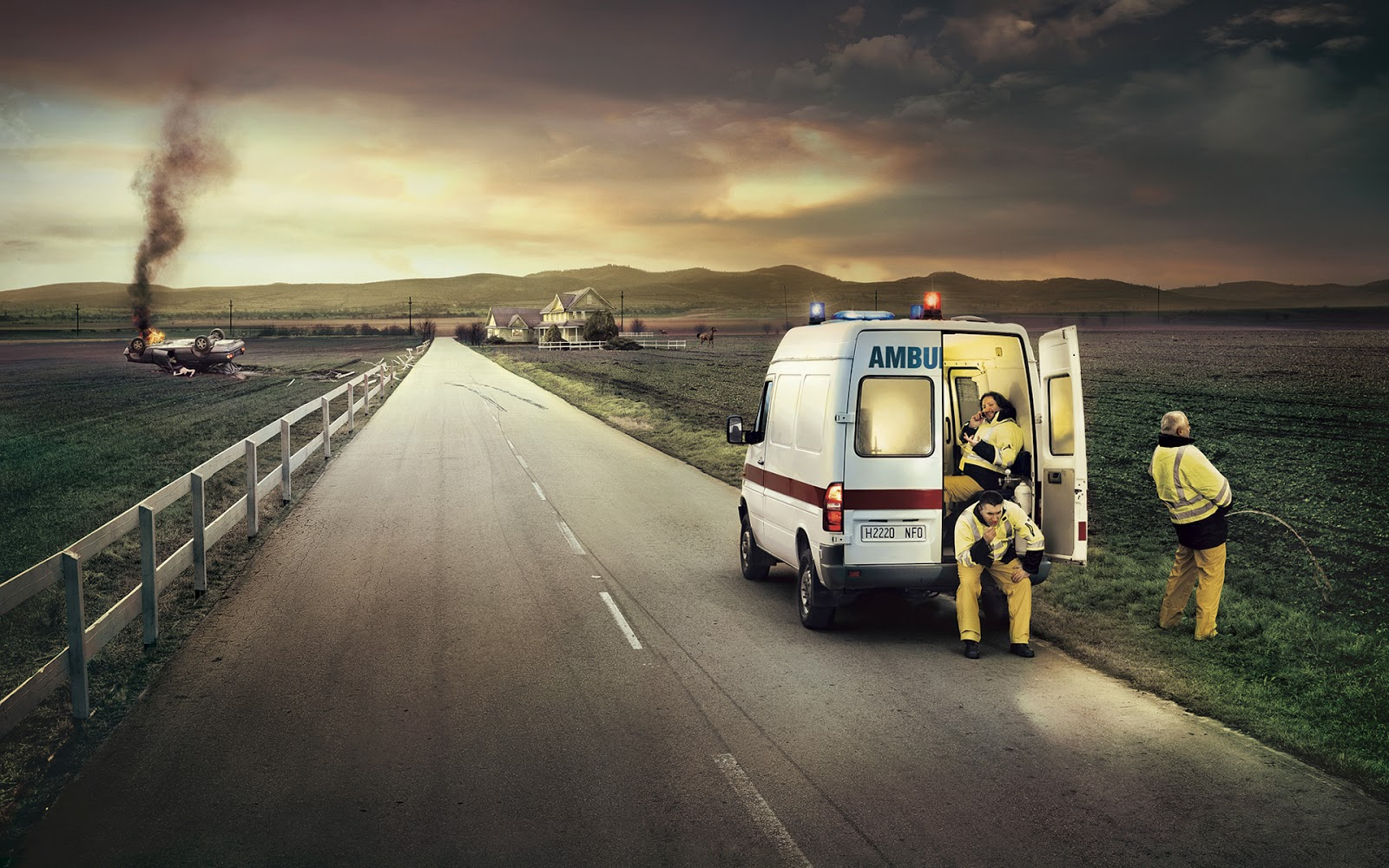 Must Seen 2015 Funny Ambulance Wallpaper