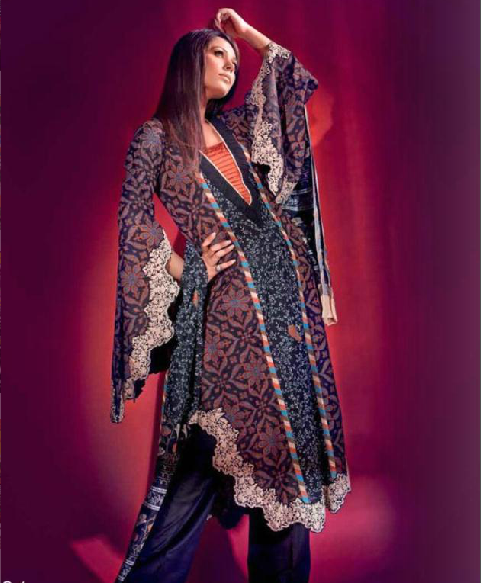 Gul Ahmed Latest Design of 2013 of Khaudar