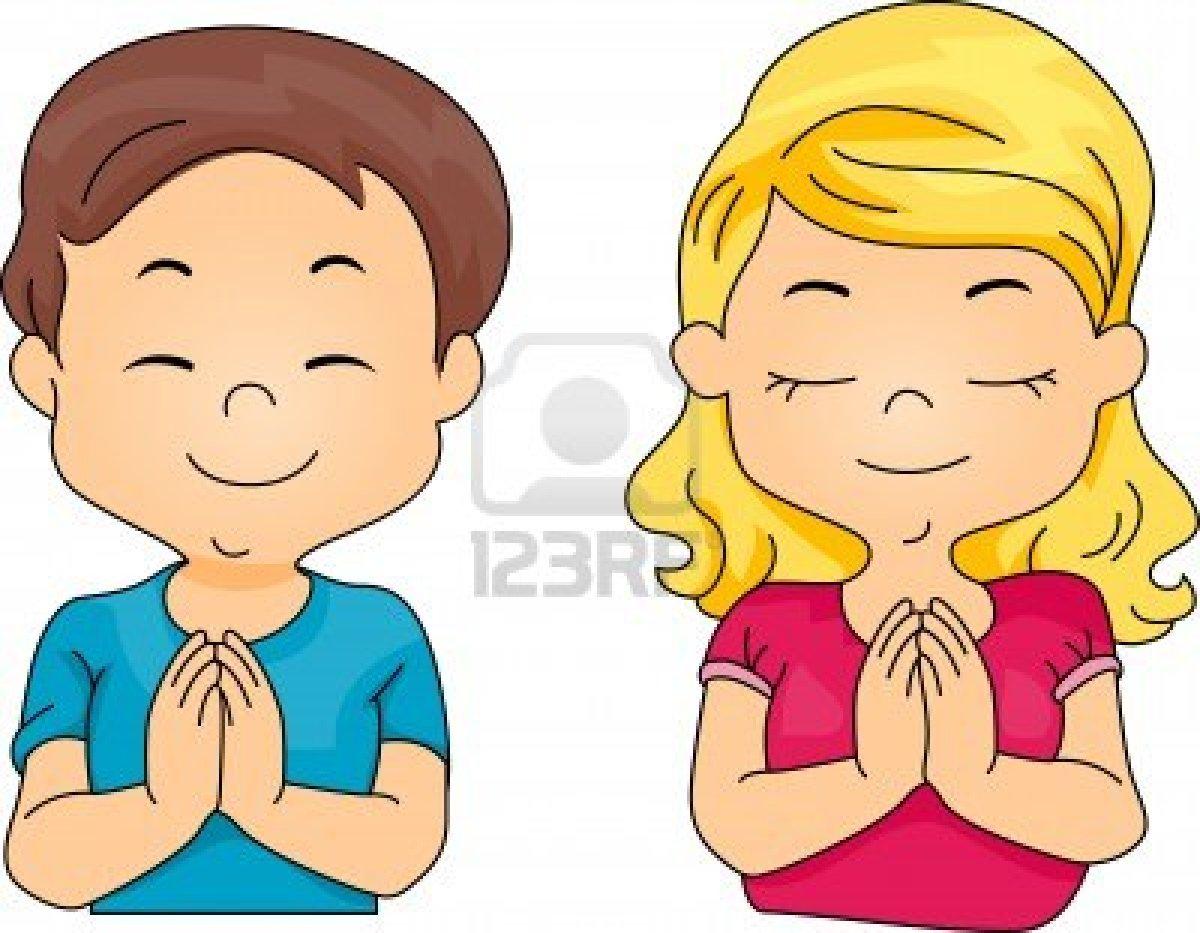 Niños orando en caricatura - Imagui