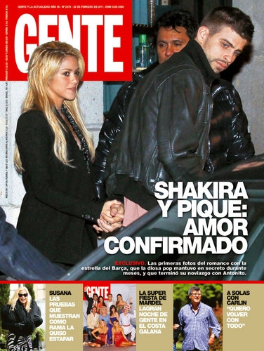 Shakira y pique en revista gente noticu ntalo show del for Revistas del espectaculo
