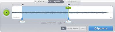бесплатный онлайн сервис обрезки аудио файлов