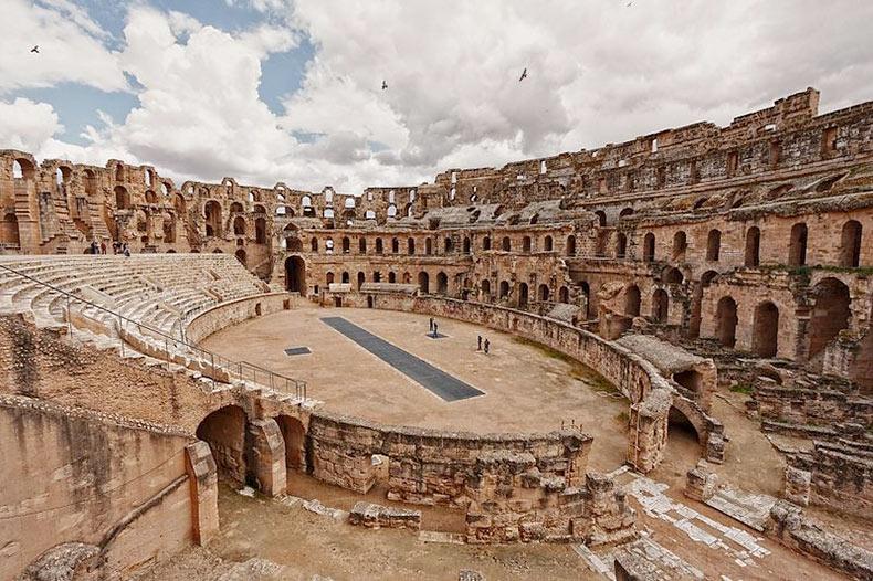 El anfiteatro romano de El Djem | Túnez