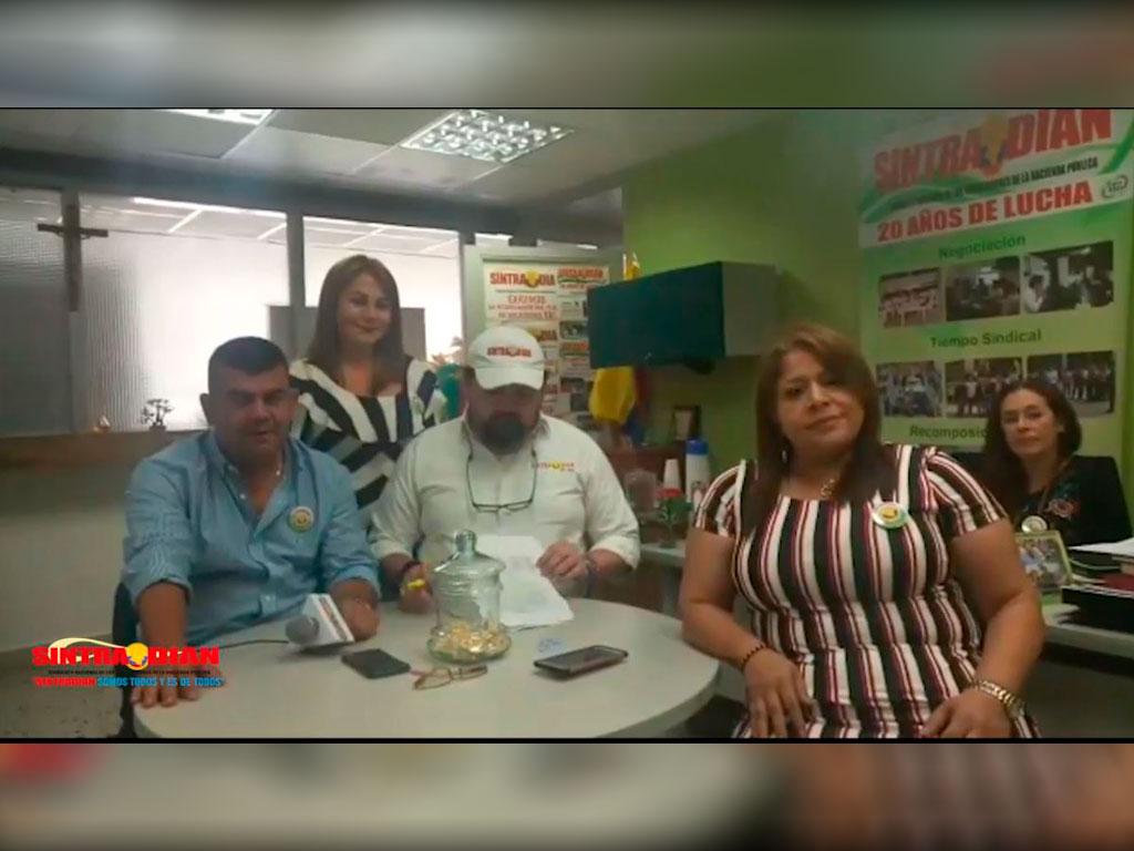Acompañamiento SINTRADIAN Junta directiva Nacional a capítulo Medellín