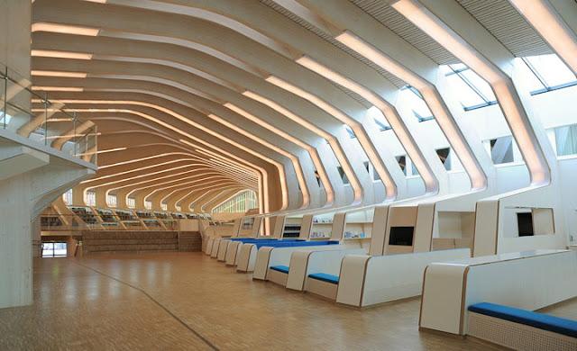 Biblioteca Centro Cultural Vennesla interiores