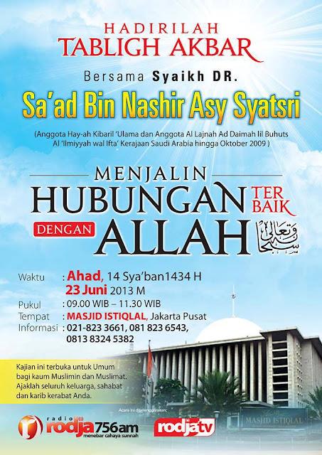 Info Tabligh Akbar Ahlussunnah di Jakarta