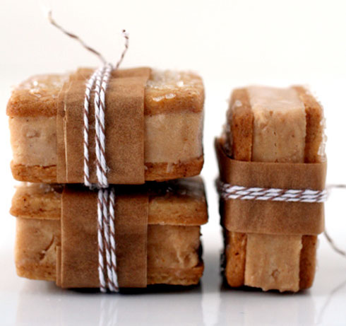 ... Pumpkin & Gingerbread ice cream sandwiches. From Cannelle et Vanille
