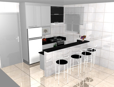 pequenas de luxo projeto branca preta simples modernas apartamento