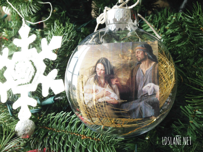 """Savior"" is Born Ornament Tutorial by LDSLane.net"