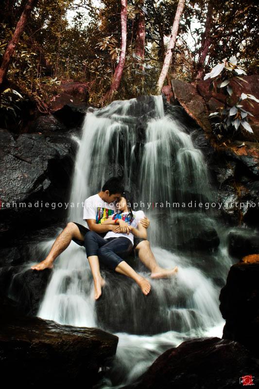 prewedding Neri & Rema konsep di air terjun
