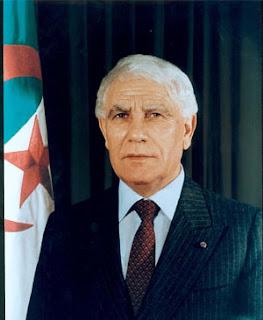 El tercer presidente de la República de Argelia, Chadli Bendjedid