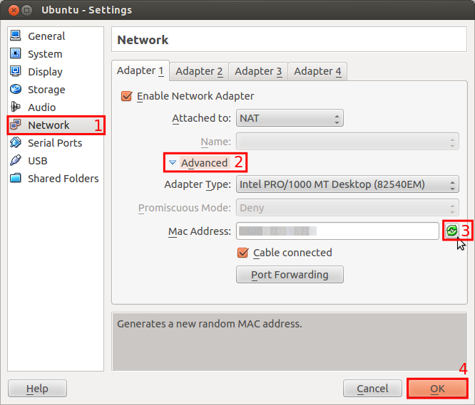 generate a new mac address