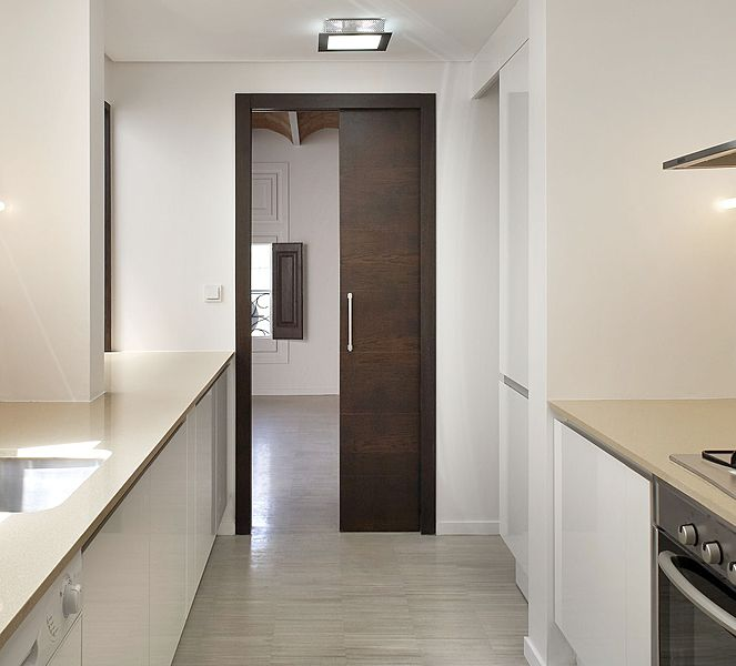 Decoraci n del hogar y bricolaje puertas correderas - Marco puerta corredera ...