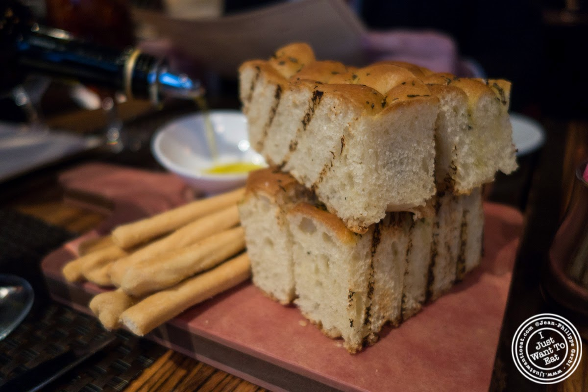 image of bread at Abboccato Italian restaurant in NYC, New York