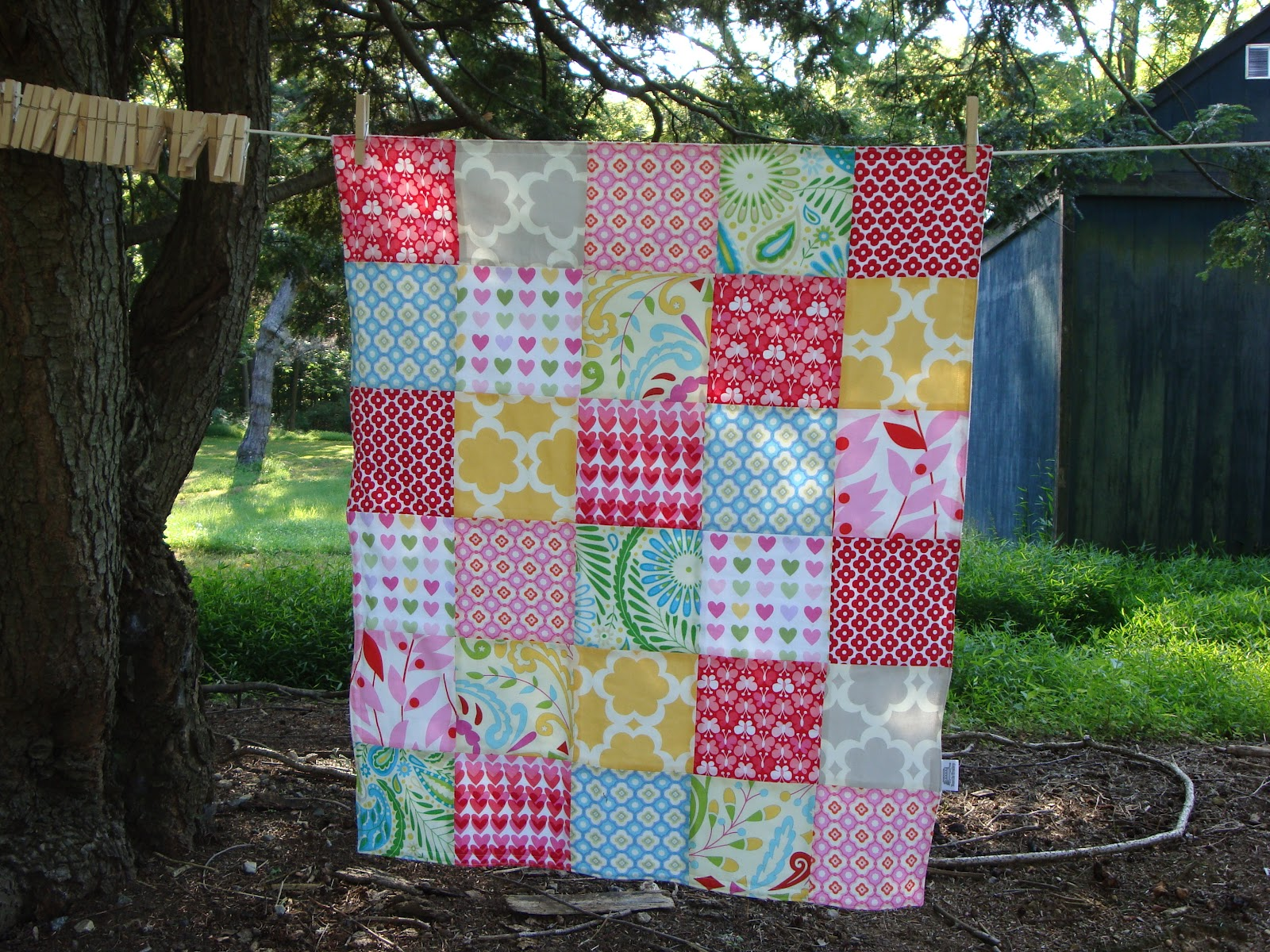 TEXTILE TROLLEY: How to make a patchwork baby blanket (no quilting ... : make patchwork quilt - Adamdwight.com