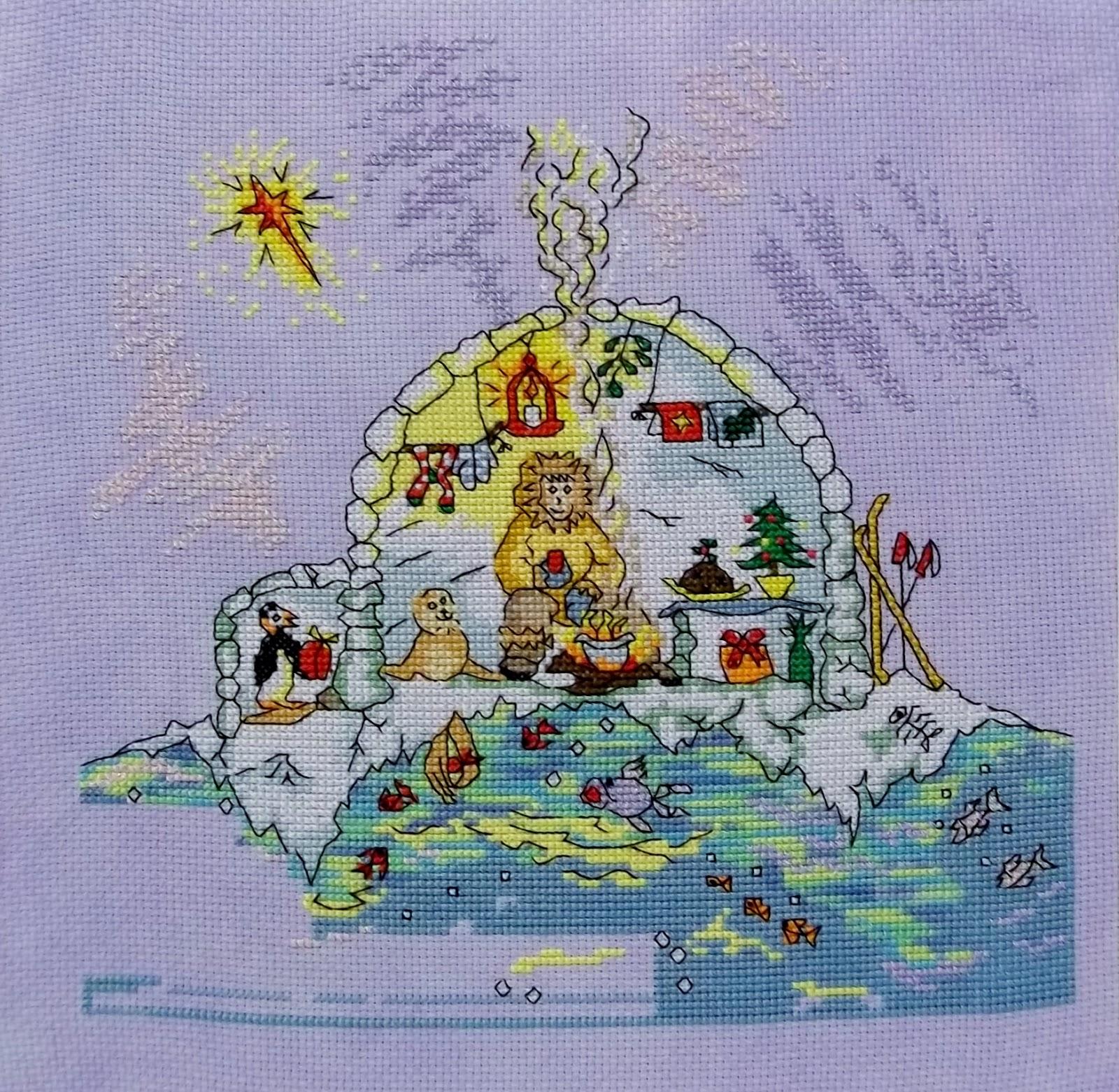 Debbie 39 s cross stitch jardin priv sal and igloo for Jardin prive
