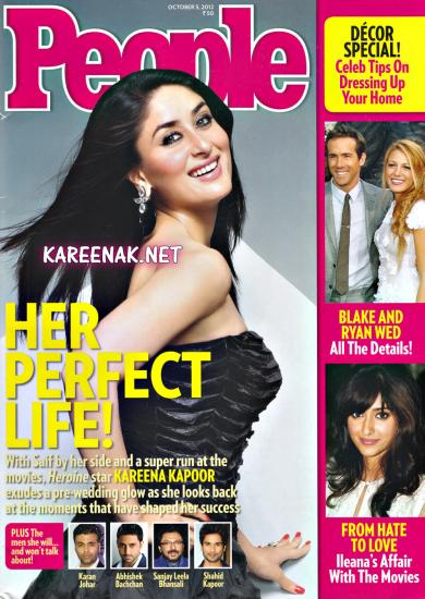 Kareena Kapoor on the cover of People magazine - October 2012