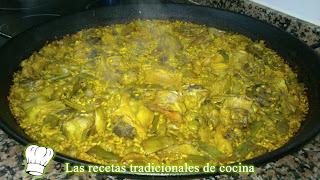 Receta de Paella de Habas y Alcachofas