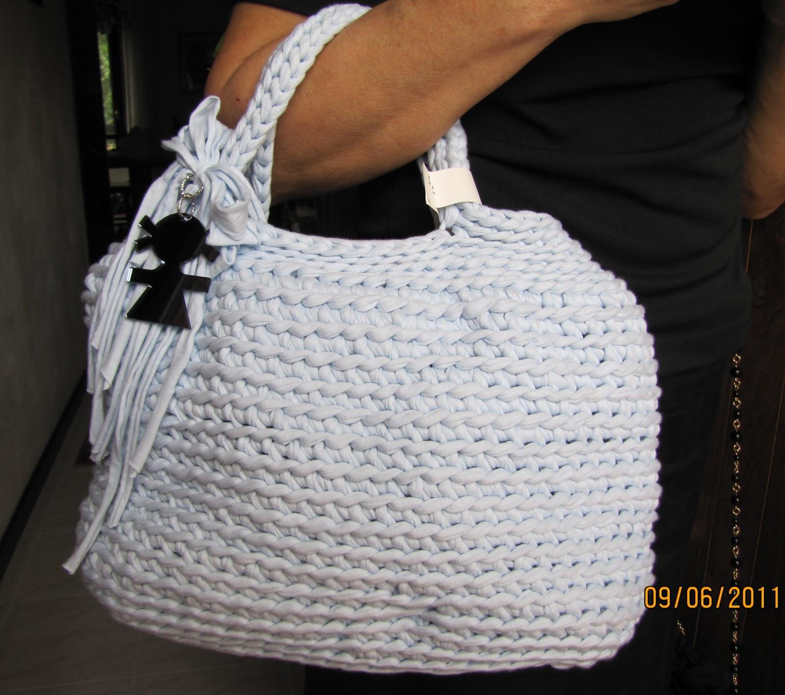 Borse Alluncinetto Con Cotone : Le borse di mara in fettuccia borsa uncinetto con