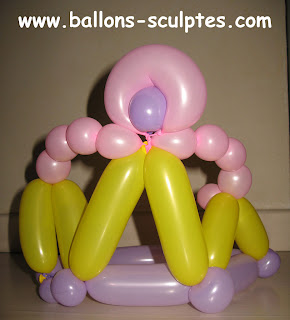 couronne de princesse en ballons
