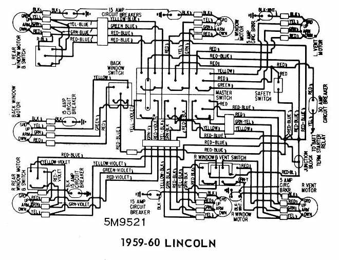 Lincoln+1959 1960+Windows+Wiring+Diagram lincoln 1959 1960 windows wiring diagram all about wiring diagrams Chevy Wiring Harness Diagram at bayanpartner.co