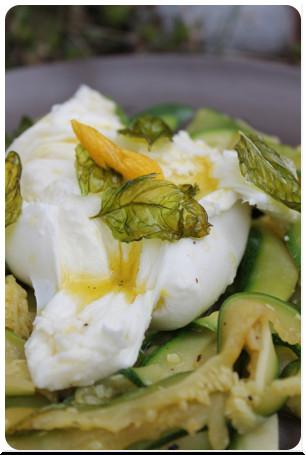 Zitroniger Mozzarella auf Zucchini