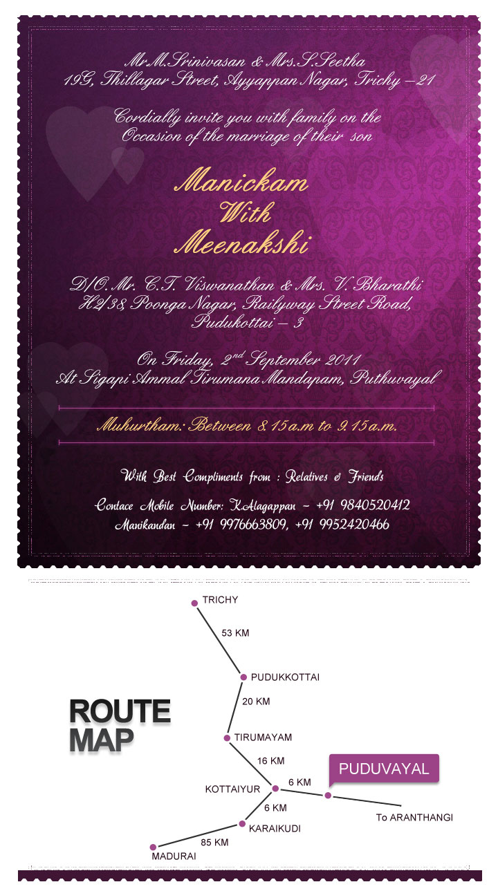 Kerala Christian Wedding Invitation Joy Studio