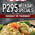 TGI Friday's Second Wave of P295 Promo