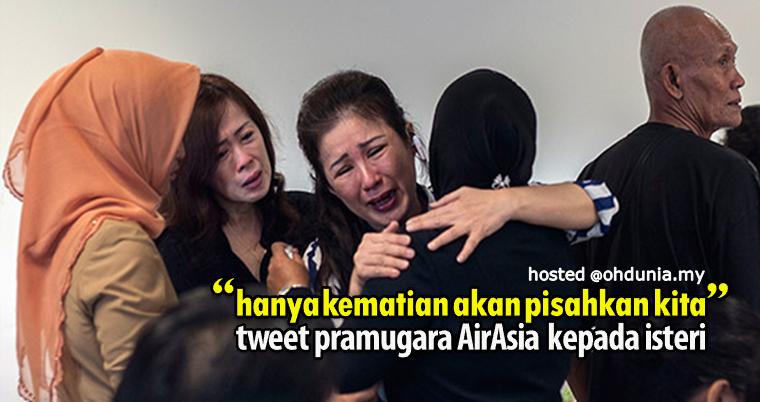 Hanya kematian akan pisahkan kita, tweet pramugara kepada isterinya