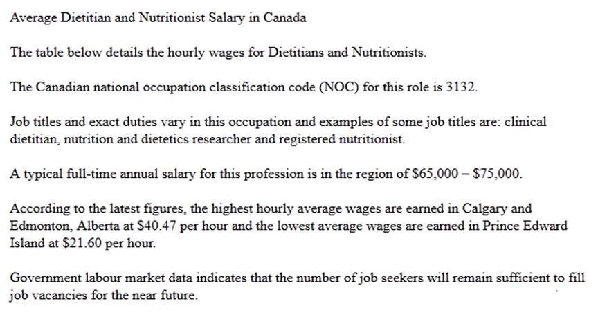 Nutritionist Salary Degree And Certification Themostinspiringe