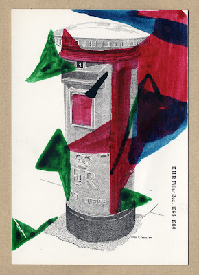 Homerton Hospital Postcard of a postbox