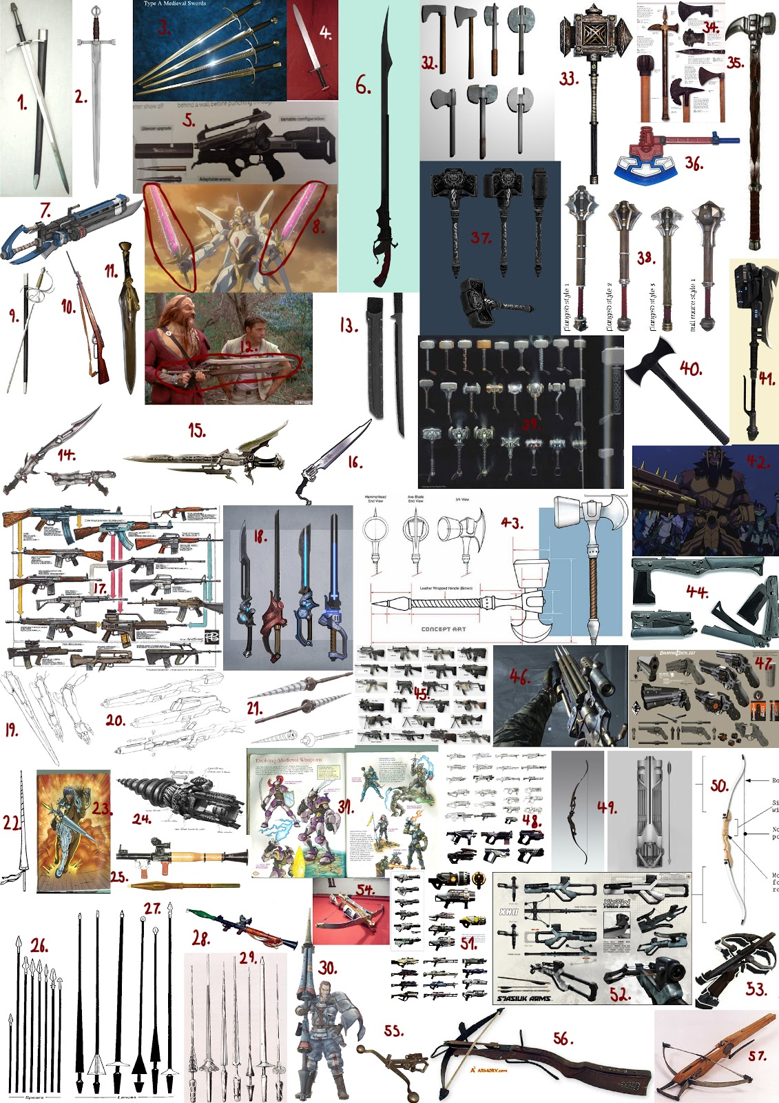 Types of weapons weapon types mood board