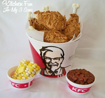 April Fools KFC Kentucky Fried Chicken Bucket and Sides Dessert