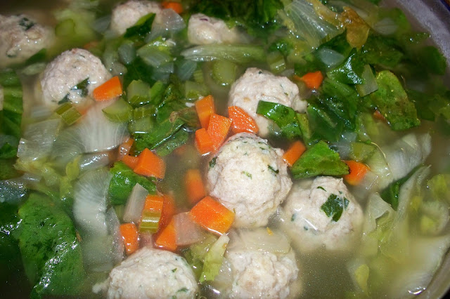 THE FOOD OF LOVE: Turkey Meatball and Escarole Soup
