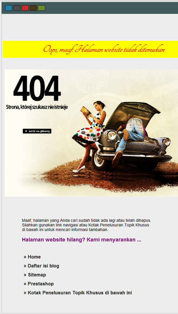 pesan error 404 website design