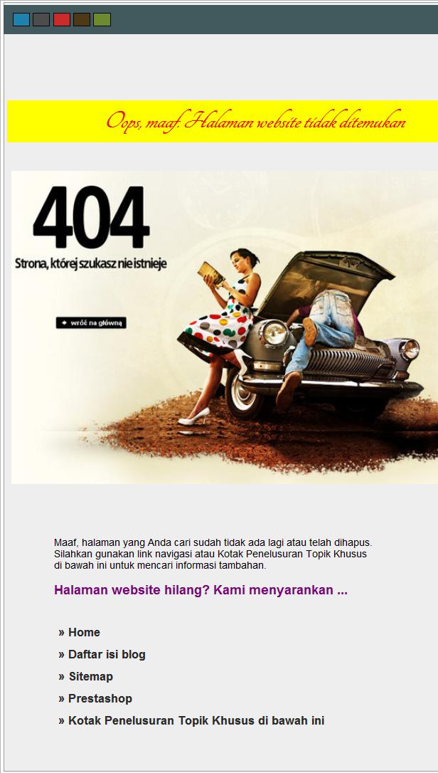 pesan error 404 website design