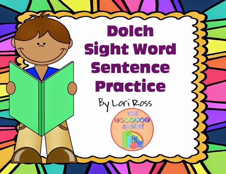 Dolch Sight Word Sentence Practice