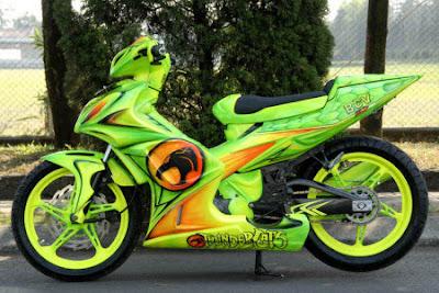 Modif Jupiter mx airburs keren warna hijau