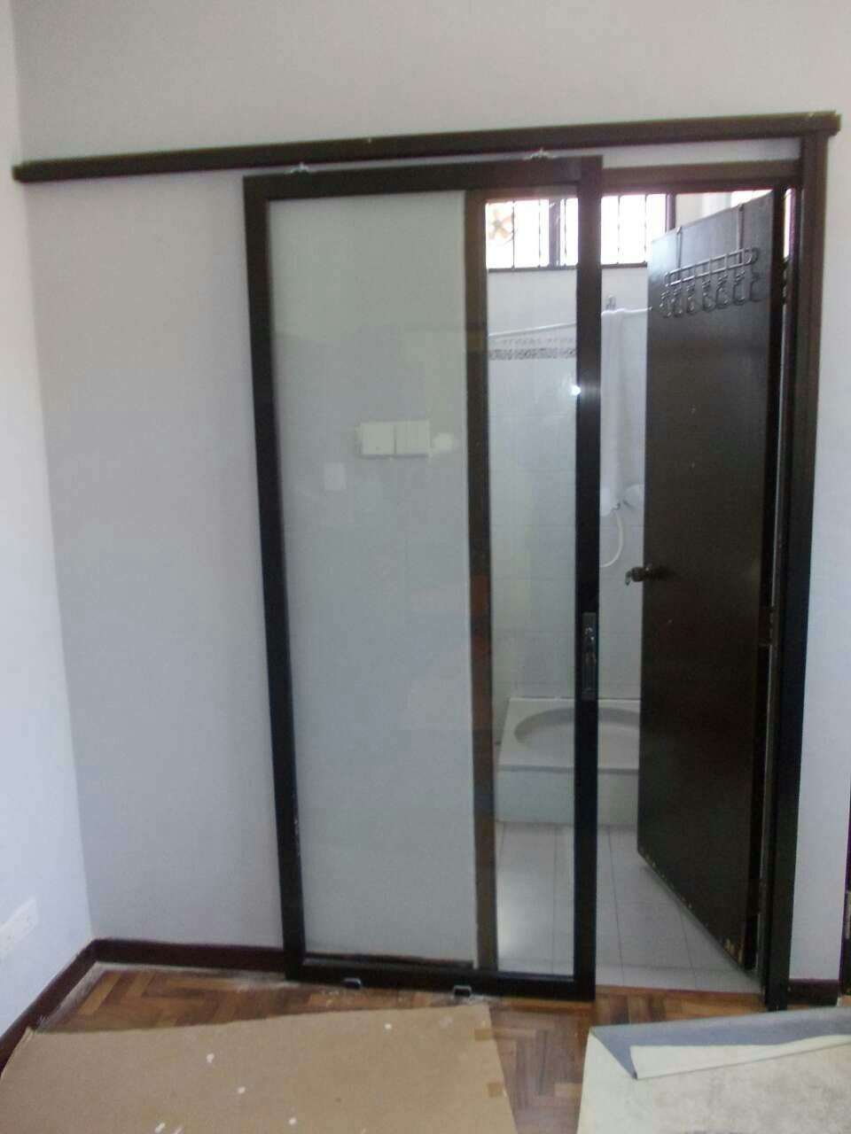 Shower screen penang 12mm kitchen sliding door for Sliding glass doors kitchen