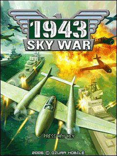 Screenshots of the 1943 Sky War for java mobile, phone.