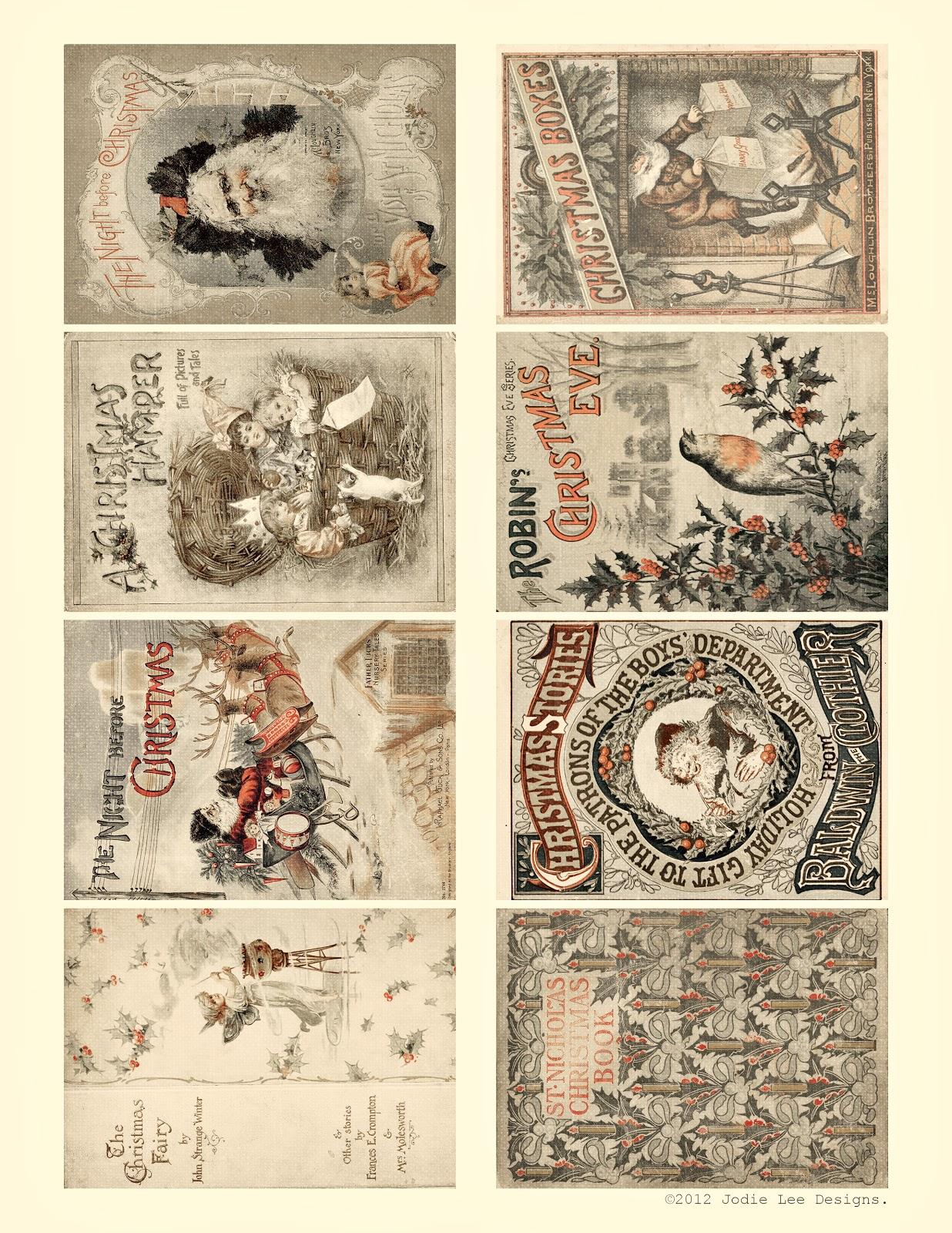 Free Printable Vintage Christmas Tags 12 days of christmas giveaways