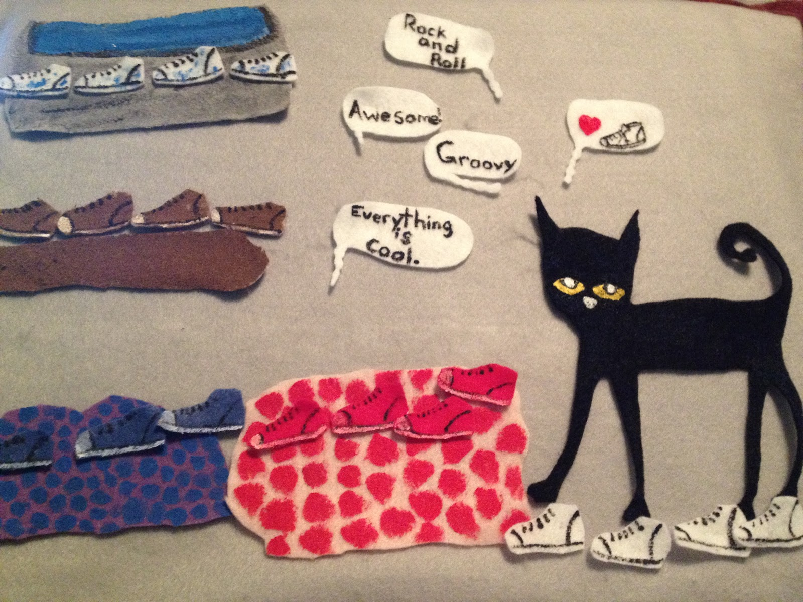 Feltboard Galore: Pete the Cat I Love my White Shoes