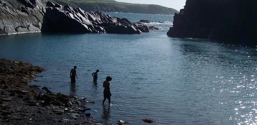 The Blue Lagoon at Abereiddy, Pembrokeshire, Wales