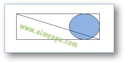 Gambar:  Contoh gambar sederhana menggunakan atau memanfaatkan snap di Microsoft Word