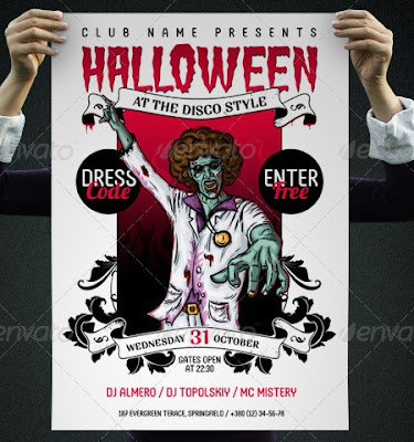 Flyers en PSD para Hallowen 