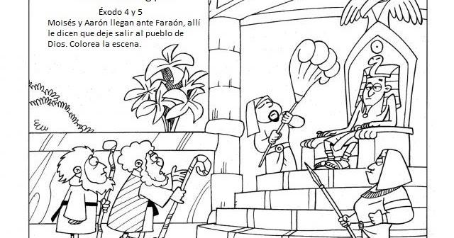 Moises Ante Faraon para colorear | Dibujos infantiles, imagenes ...