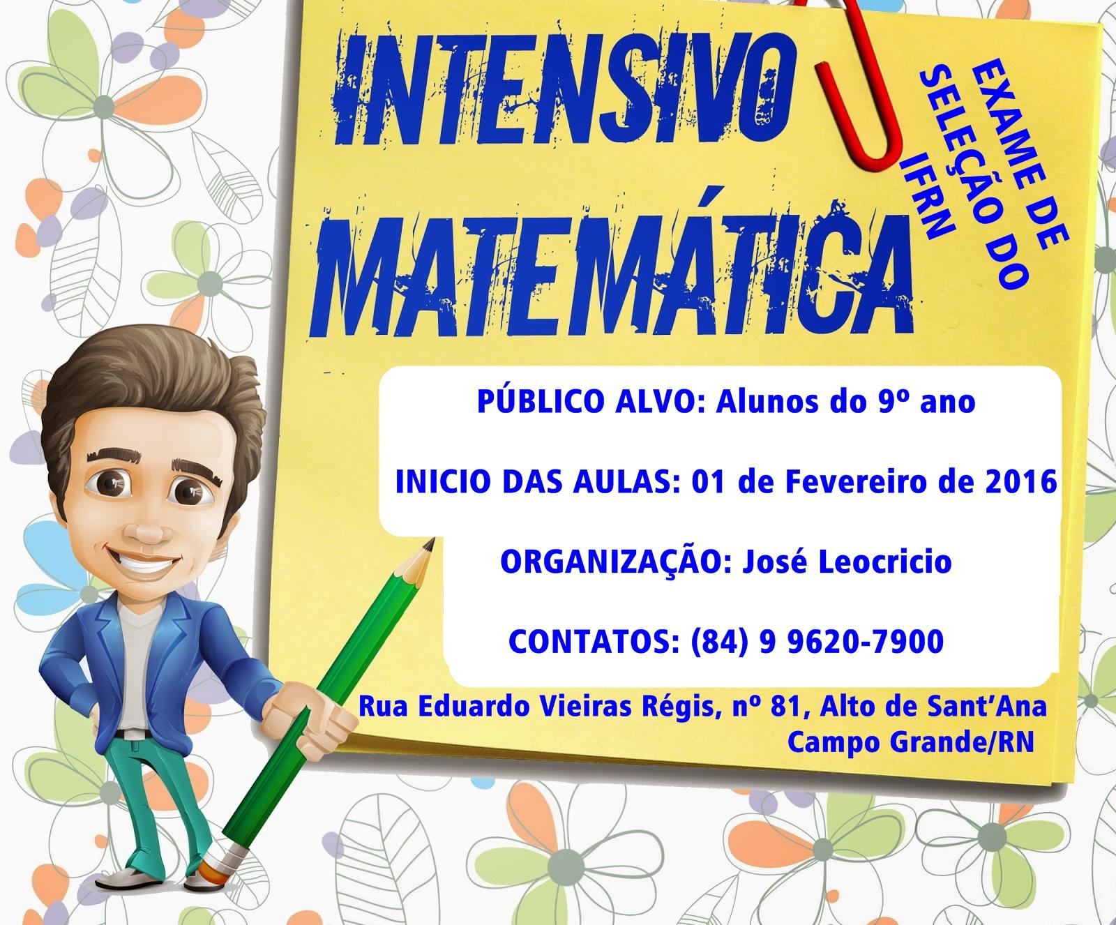 Participe do Intensivo de Matemática para o exame de seleção do IFRN em Campo Grande