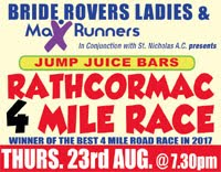 4 mile race in Rathcormac... Thurs 23rd Aug 2018