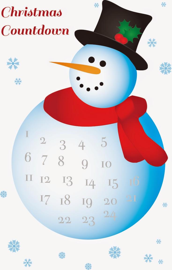 Refreshing image with christmas countdown printable